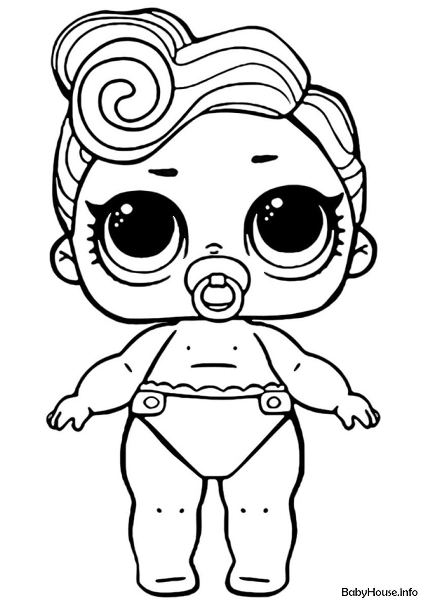 Lil Waves High Quality Free Coloring From The Category L O L Lil Sisters More Printable Pictures On Baby Coloring Pages Coloring Pages Cool Coloring Pages