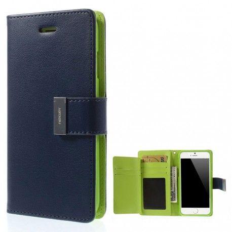Apple iPhone 6 Sininen Rich Diary Lompakkokotelo  http://puhelimenkuoret.fi/tuote/apple-iphone-6-sininen-rich-diary-lompakkokotelo/