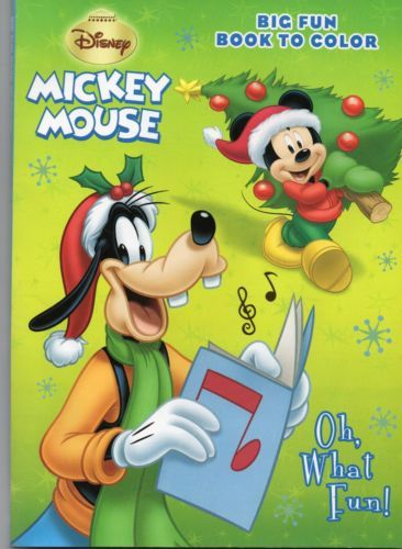 Disneys-OH-WHAT-FUN-Mickey-Mouse-Coloring-Activity-Book-Like-New ...