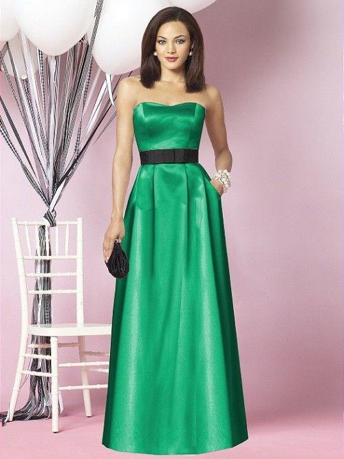 Vestido de fiesta en verde esmeralda