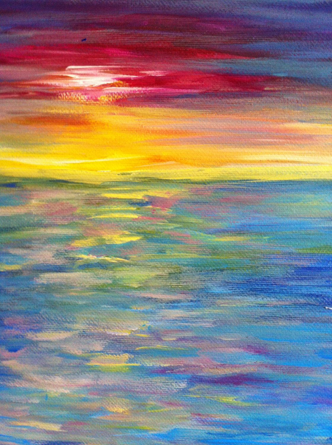 Pretty Painting Idea For Beginners Sunset Painting With Warm Sky