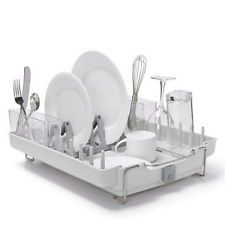 New Kitchen Plate Dish Drying Rack Storage Utensil Holder Sink Drainer  Organizer