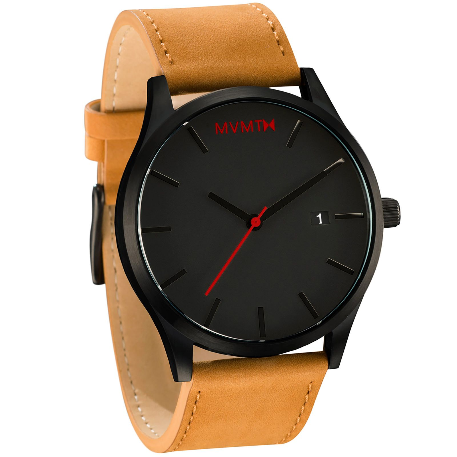 with casual week brown classic calendar big mens watches leather amazon wrist analog dp waterproof band black date retro wristwatch face dress unique business number watch quartz com fashion