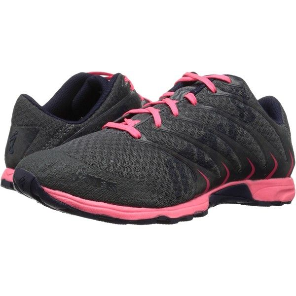 inov-8 F-Lite 195 Women's Running Shoes, Black ($88) ❤ liked on Polyvore featuring shoes, athletic shoes, black, athletic running shoes, running shoes, lace up shoes, cross training shoes and black running shoes