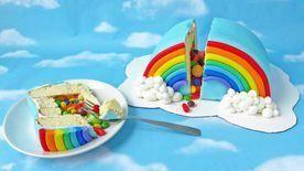 Photo of Regenbogen Pinata Kuchen #rainbowcake –  Regenbogen-Pinata-Kuchen #Regenbogenkuc…