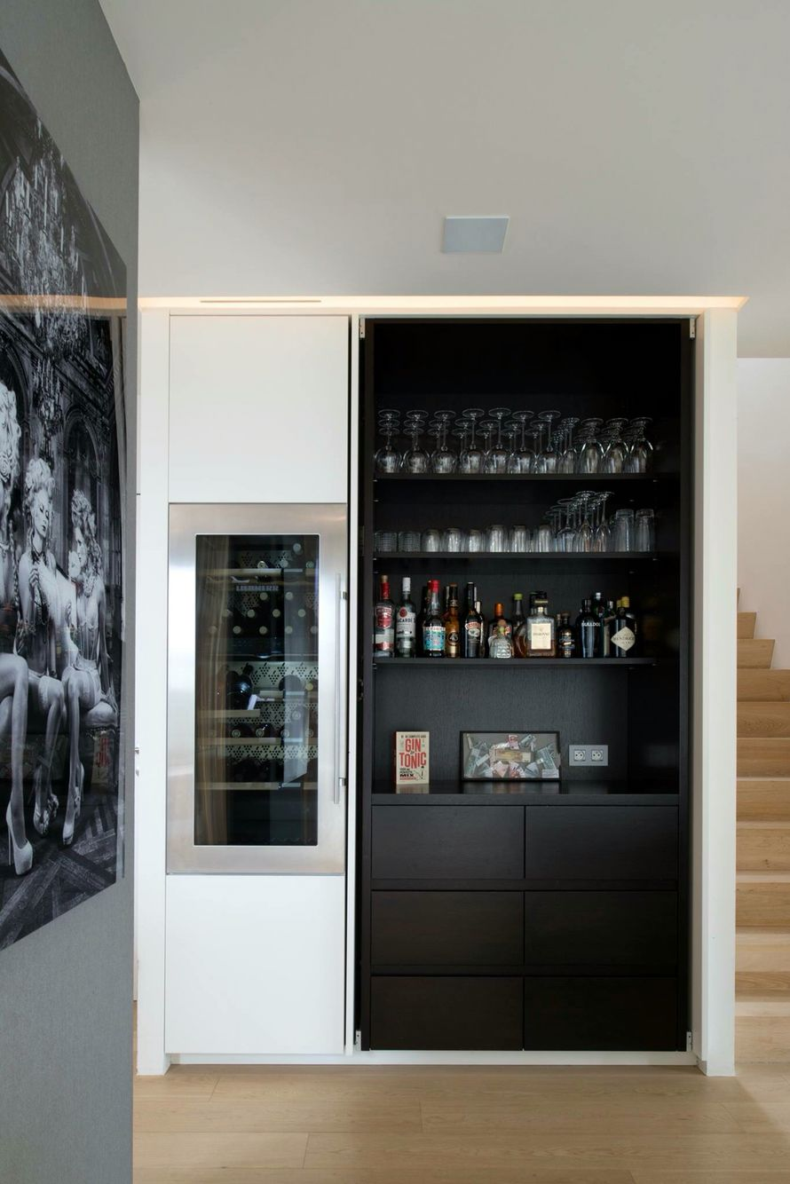 Pin by S on Inrichting  Modern home bar, Bars for home, Home bar