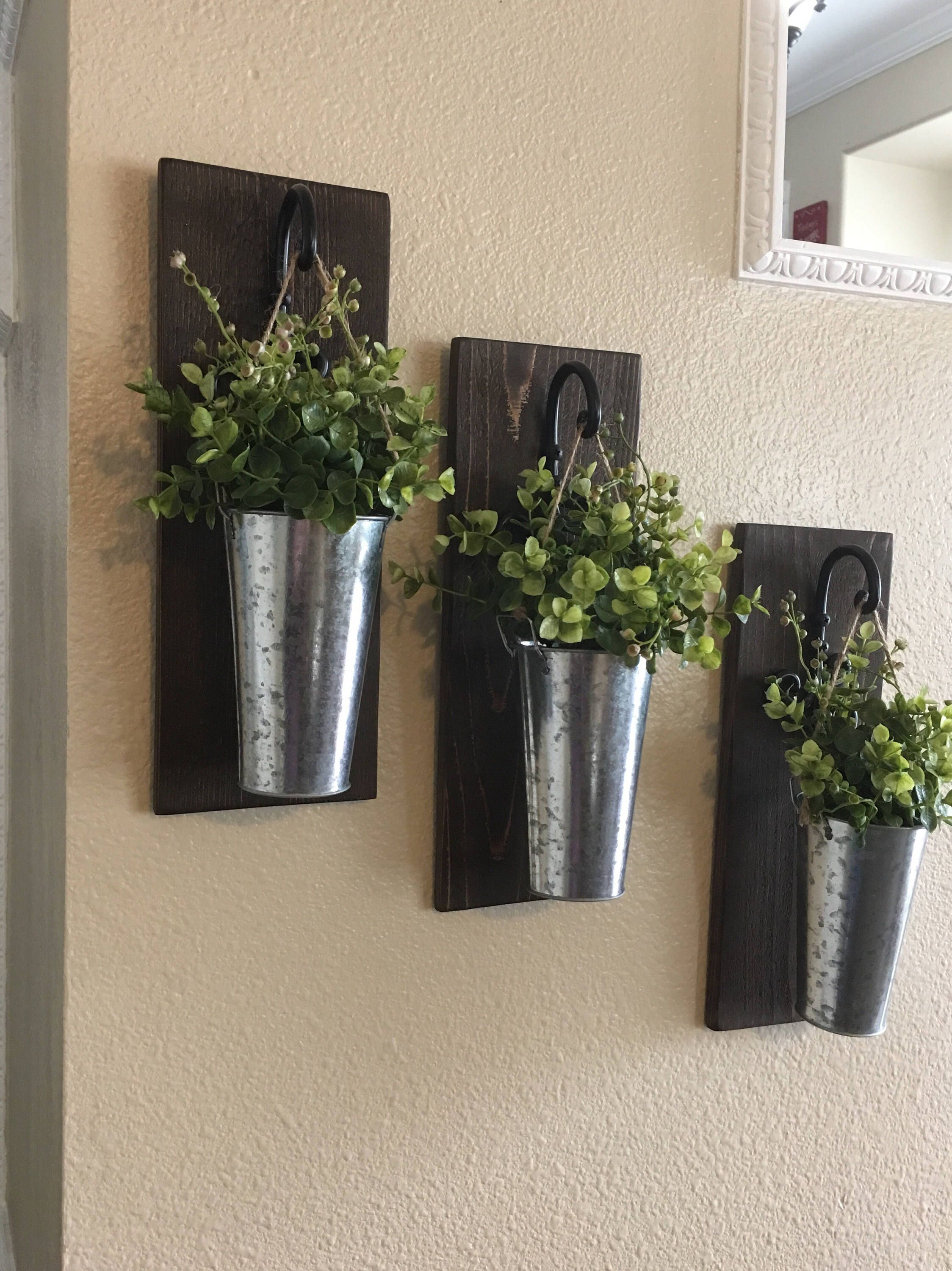 Indoor Wall Planters Decor Rustic Wall De Rustic Hanging Planter By