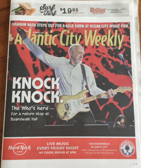THE WHO Atlantic City Weekly NJ concert 2017 Boardwalk Hall Pete Townshend, is this your average Grandfather?