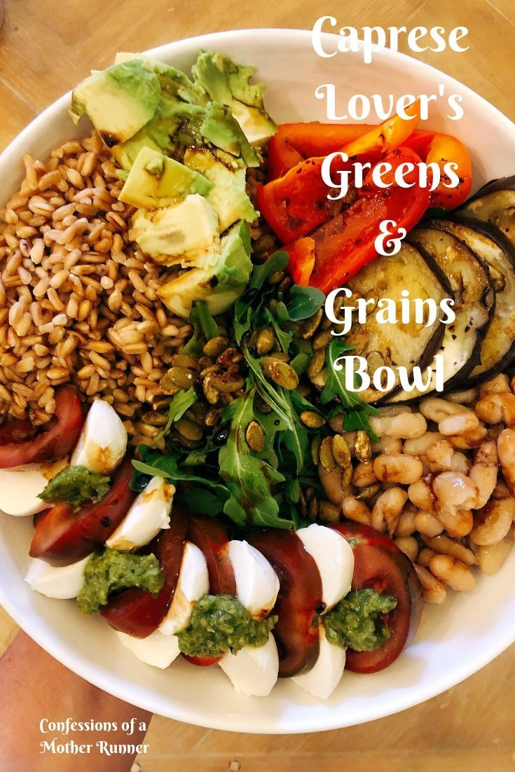 Caprese Lover's Greens & Grains Salad Looking for more exciting salads? If you love Caprese, you will love this Caprese Lover's Greens & Grains Bowl
