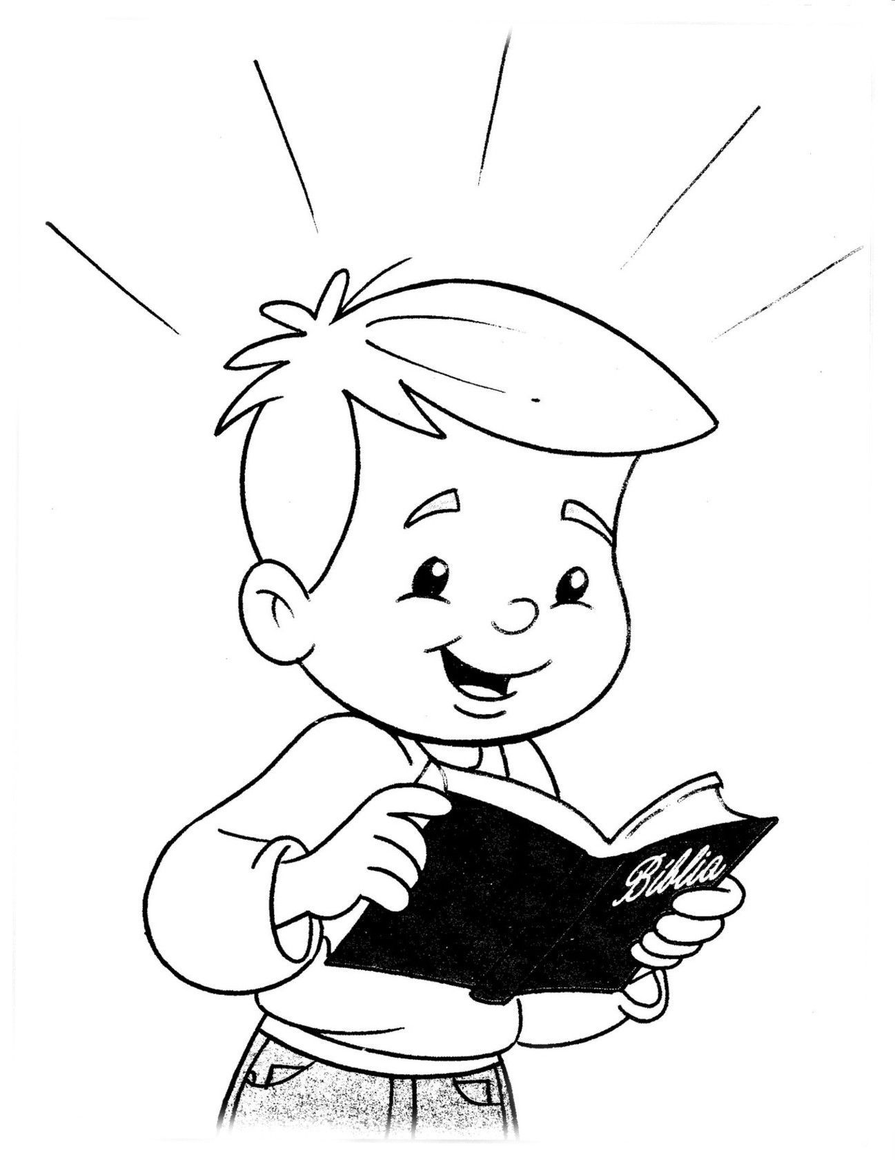 Image Result For Children Reading Bible Coloring Page Christian