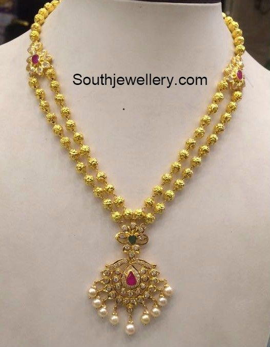 32 Grams Antique Gold Necklace Jewellery Pinterest Gold