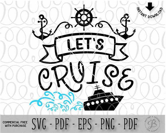 Let's Cruise svg, Summer svg, Vacation svg, Summer cut