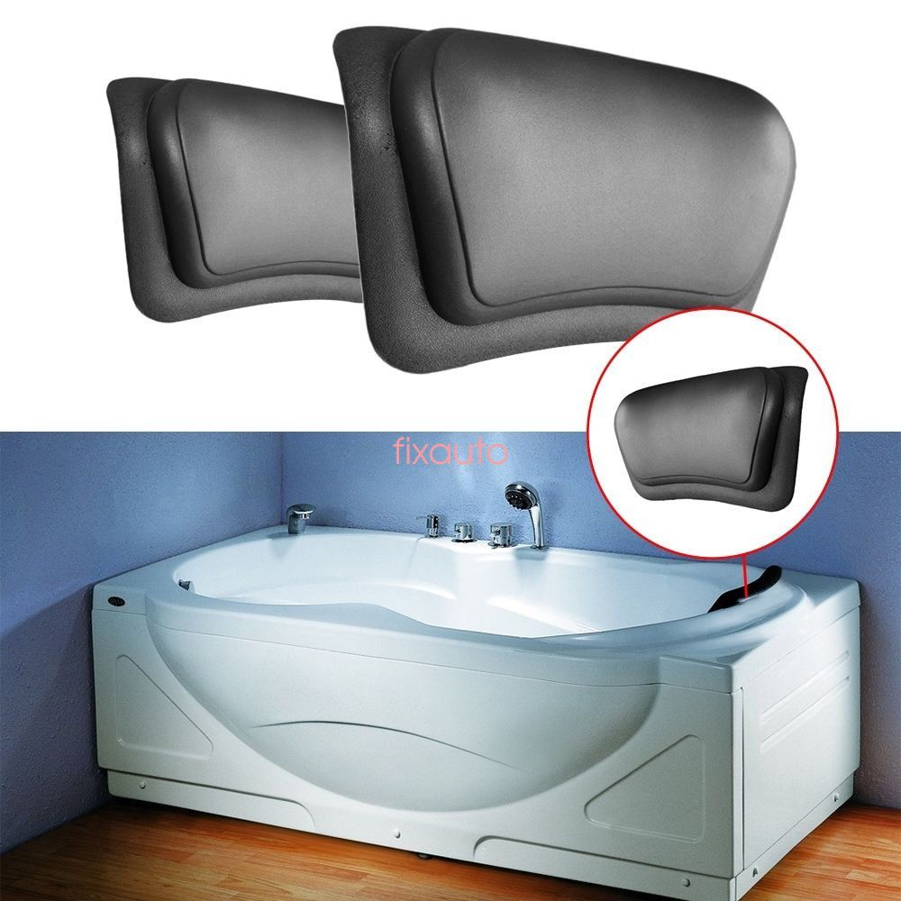 Neck Back Support Comfort Bathtub Tub W/Suction Cup Bath Spa Pillow ...