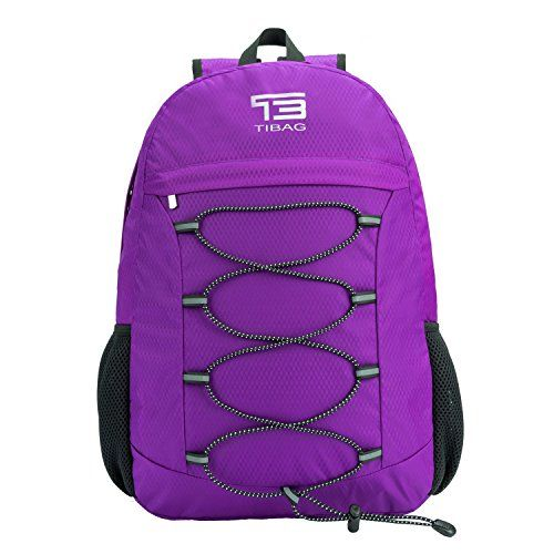 25L TIBAG Water Resistant Lightweight Packable Folding Foldable Daypack  Backpack NICE PURPLE    Details can be found by clicking on the image. 1e6fda3abf