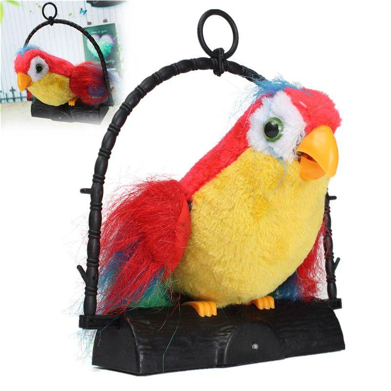 Nowy Przyjazd 22x19 8x5 7 Cm Nowoscia Imituje Rozmawia Papugi I Powtarza To Co Mowisz Dzieci Prezent Funny Zabawki Dla Dz Funny Toys Bird Toys Electronic Toys