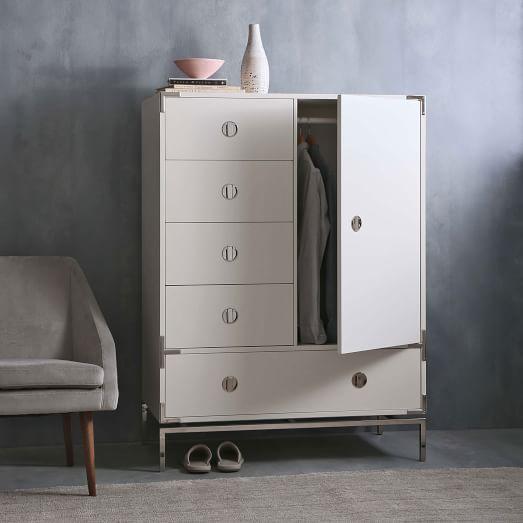 Malone Campaign Chifforobe White Furniture New Furniture