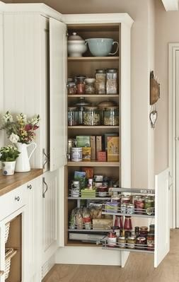 corner larder tower unit with corner storage accessory kitchen pinterest corner storage. Black Bedroom Furniture Sets. Home Design Ideas