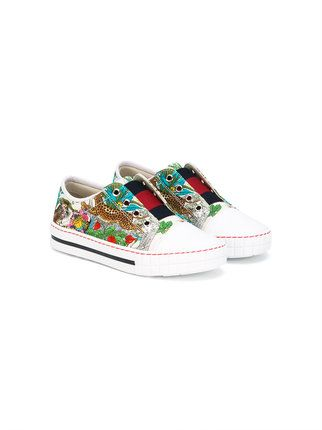 7251da429ec Gucci Kids printed slip-on sneakers