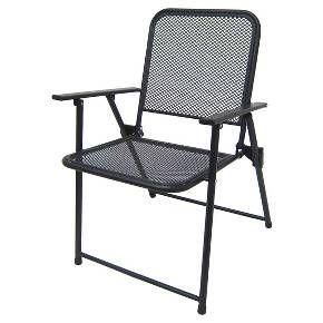 Awesome Metal Mesh Folding Patio Chair Threshold Backyard Bralicious Painted Fabric Chair Ideas Braliciousco