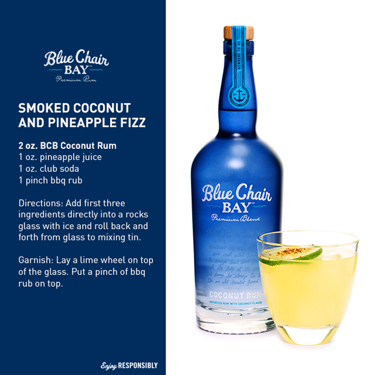 Here's A Sunday Sipper: Coconut Rum + Pineapple Juice