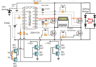 Electronic Circuit Projects: H-Bridge Mains Voltage