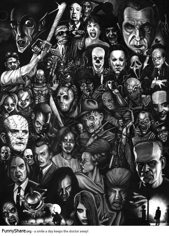horror movie drawings google zoeken