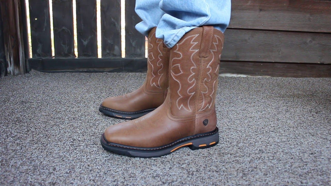 Ariat Workhog Wide Square Toe Boots