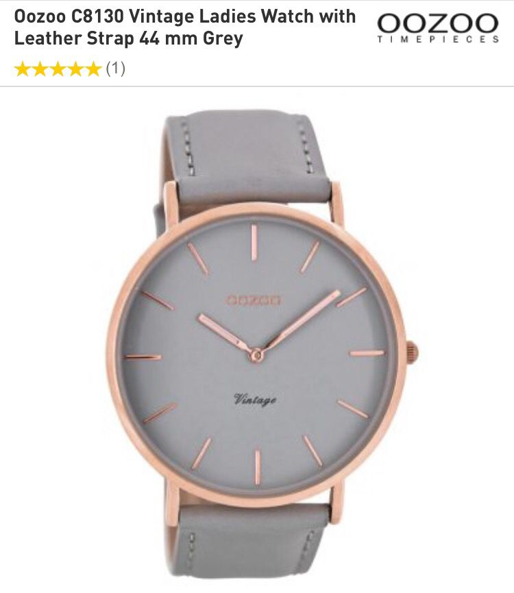 Oozing watch. Rose gold and grey