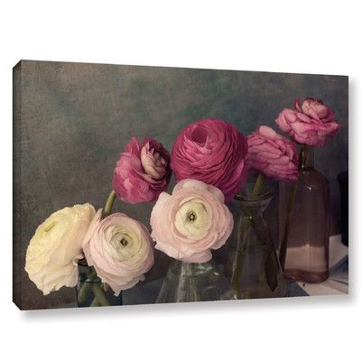 House of Hampton Baroque Ranunculus Photographic Print on Wrapped Canvas Size: