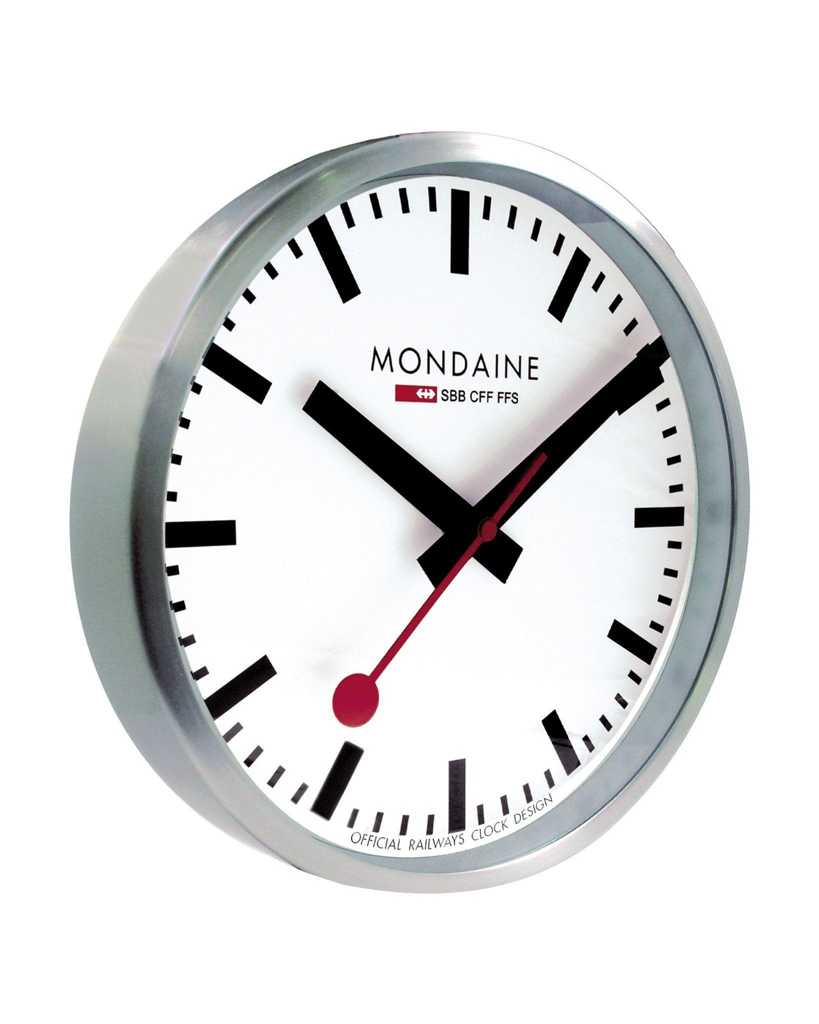 Mondaine Quartz Wall Clock O 25 Cm O 40 Cm With Images Mondaine Wall Clock Wall Clock Design Swiss Railway Wall Clock