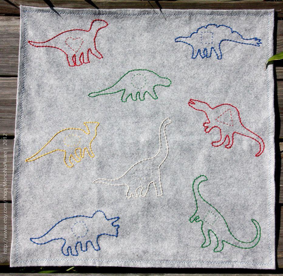 Felt Dinosaur Quiet Time Mat