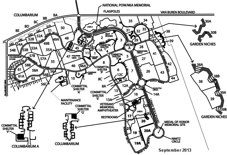 Riverside National Cemetery Map Map of RIVERSIDE NATIONAL CEMETERY | National Cemeteries  Riverside National Cemetery Map