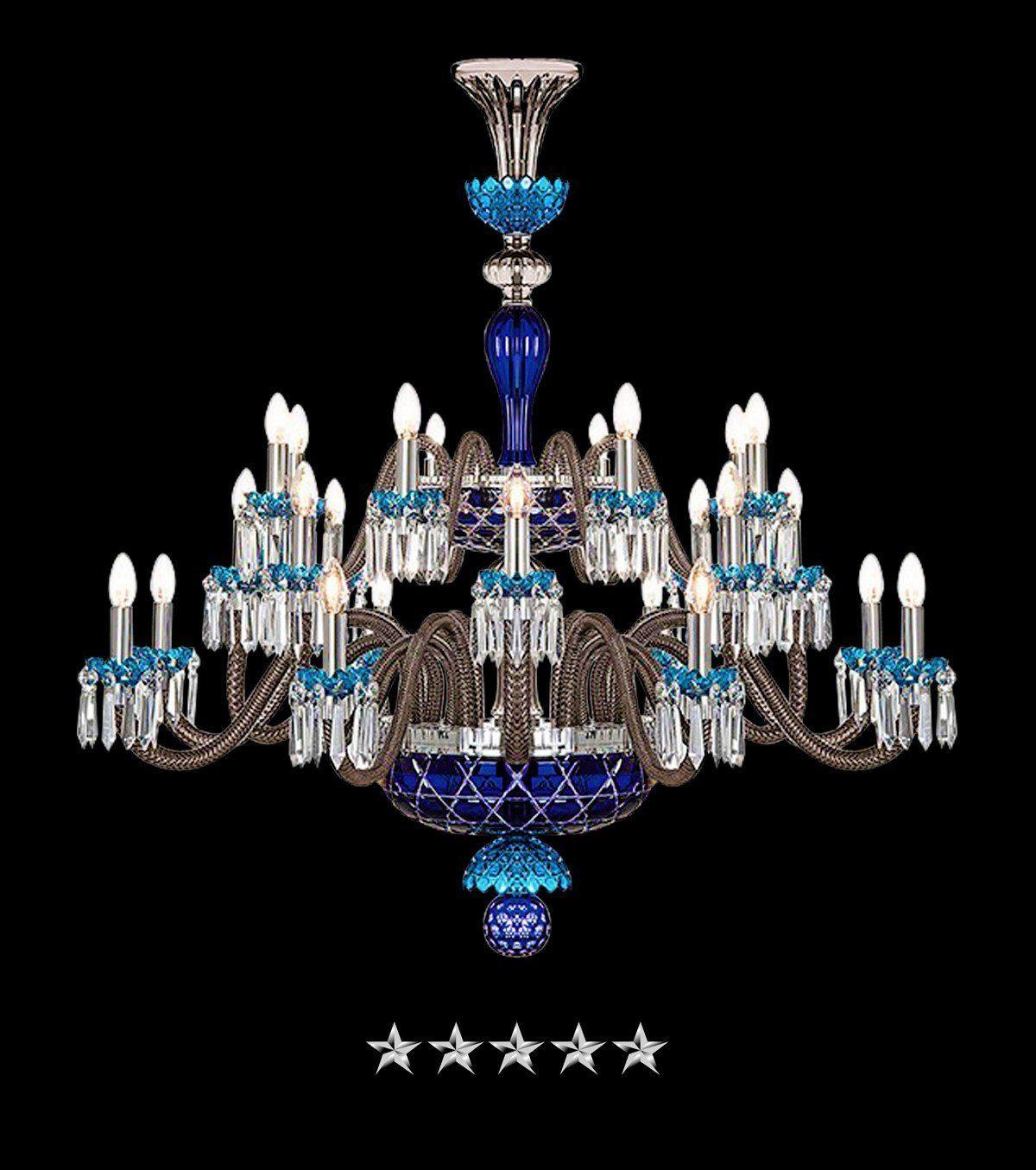 marvelous blue sky bedroom country styl | Sky Blue Saint Louis Crystal 24 Light Chandelier | Ideas ...