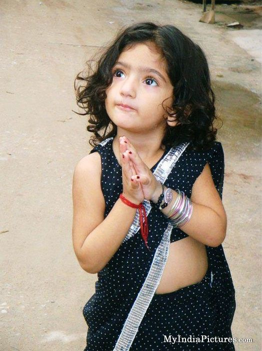 Cute Indian Baby Girl In Saree With Images Cute Baby Girl