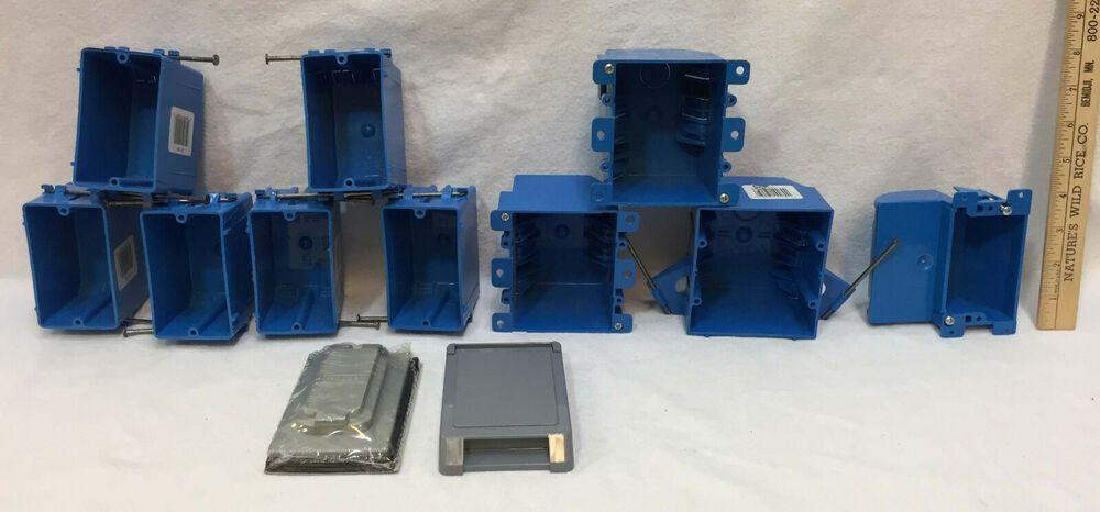 Electrical Gang Box Lot 12 Single Double Outlet Light Switch