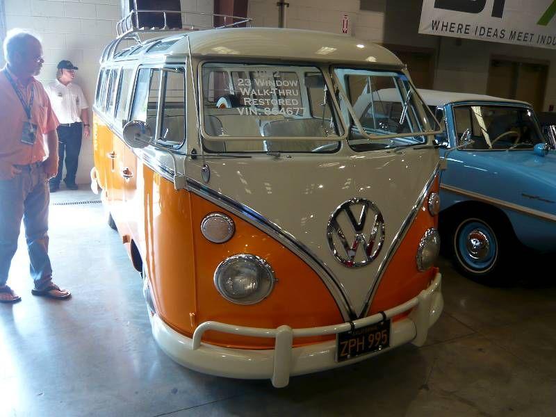 23 Window Vw Bus Orange 1962 Volkswagen Type 2 23 Window Samba Bus