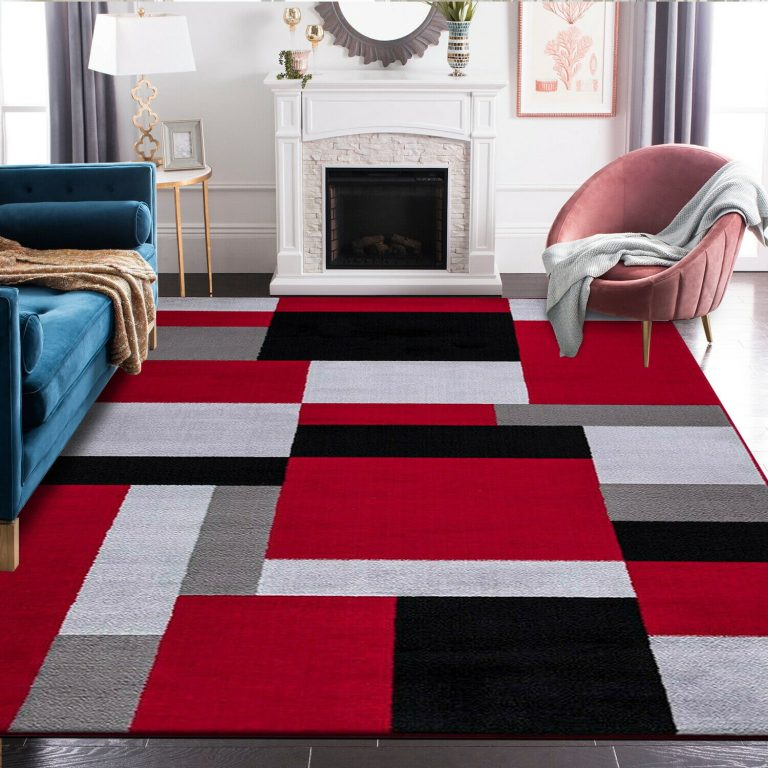 Pin On Red Black And White Area Rugs