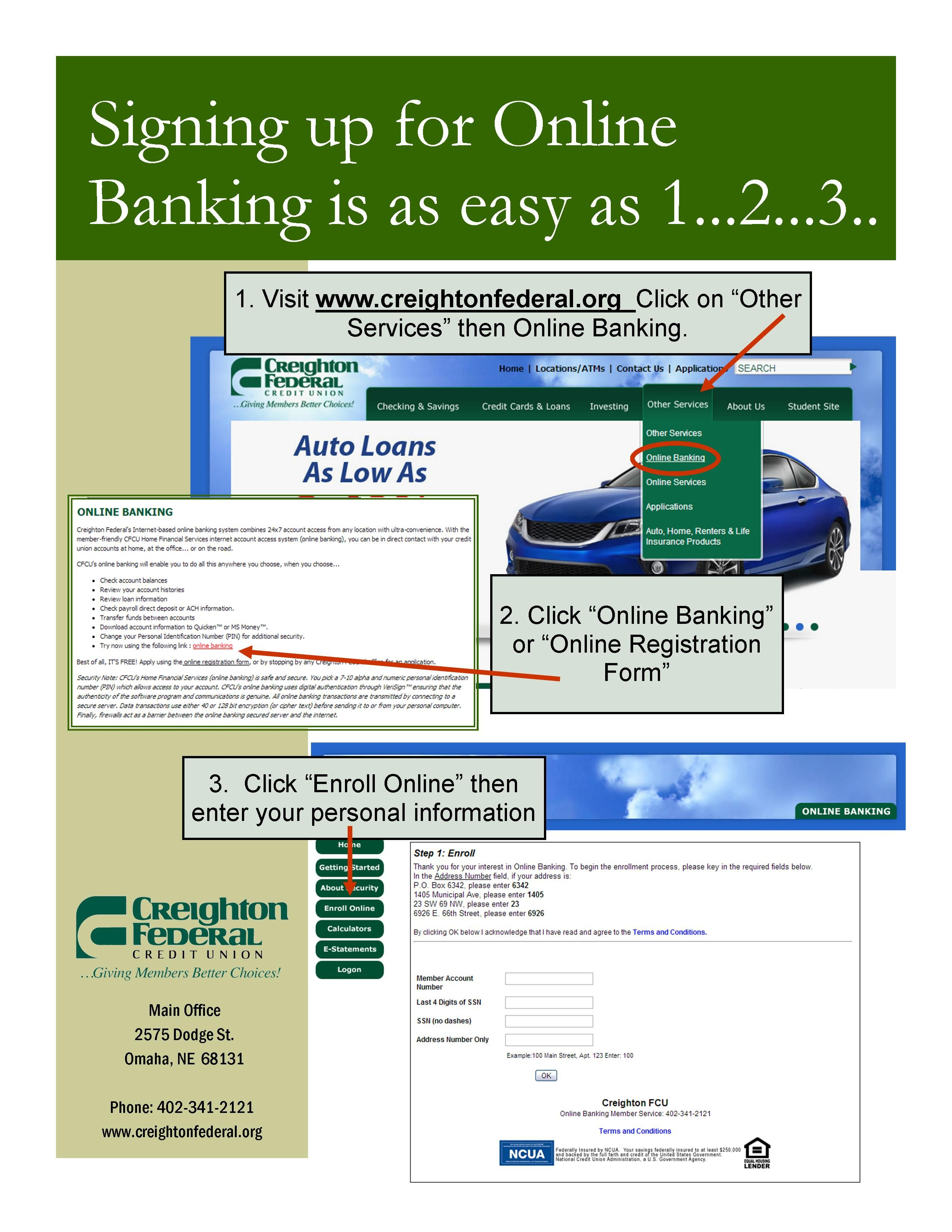 How To Enroll In Cfcu S Online Banking Online Banking Online Registration Form Online Registration