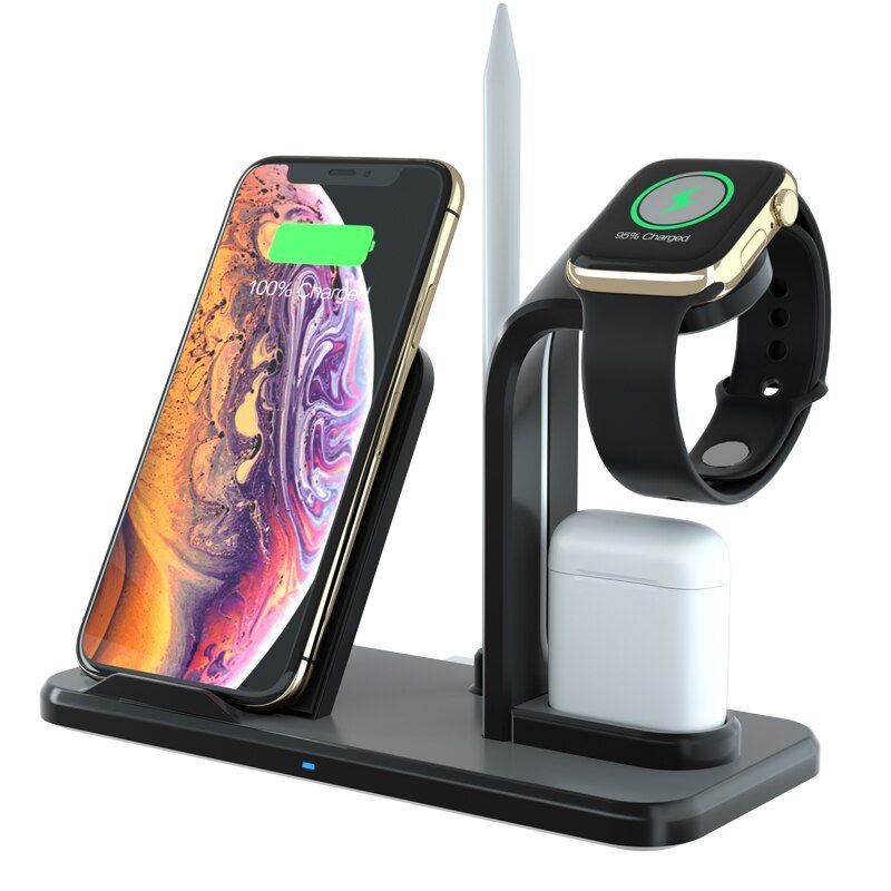 10w Qi Wireless Charger Cargador Inalambrico For Iphone X Xs Xr 8 Plus 11 Pro Max Airpods Sta Airpods Apple Iphone Cargador