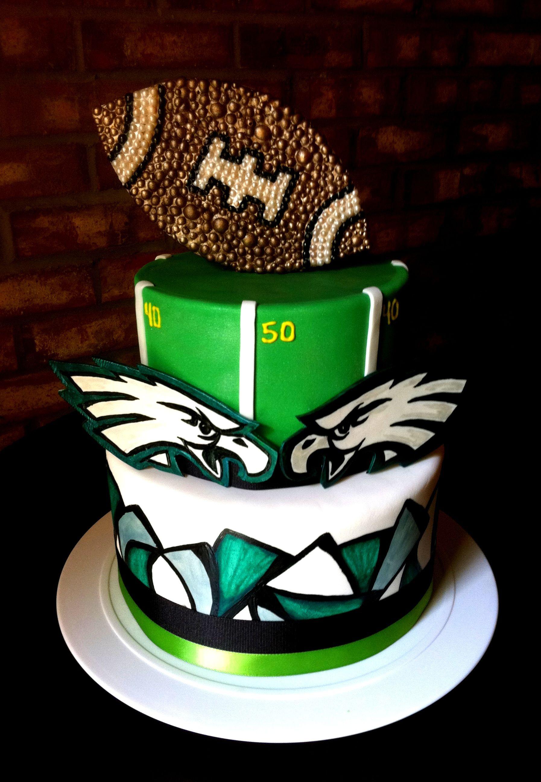 Miraculous Eagles Football Grooms Cake Football Grooms Cake Philadelphia Funny Birthday Cards Online Hendilapandamsfinfo