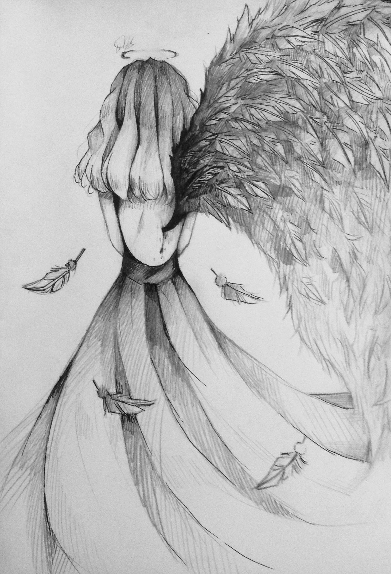 Artbook In 2020 Angel Drawing Angel Sketch Wings Drawing