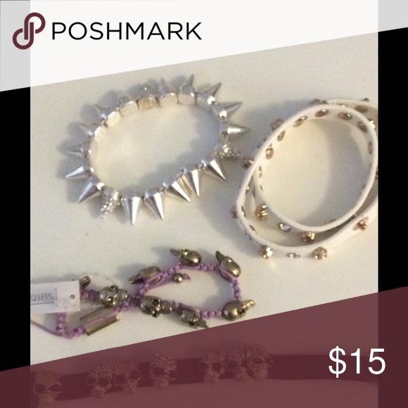 PUNK CHIC NWOT BUNDLE OF 4 RETRP BRACELETS PUNK CHIC BUNDLE OF 4 RETRO BRACELETS  NWOT Jewelry Bracelets