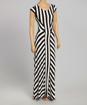 This Eci New York Black White Stripe Scoop Neck Maxi Dress By Eci
