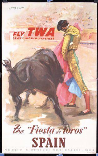Publicidad Taurina. Ya no existe TWA pero queda este diseño.