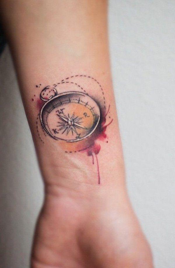 Compass wrist tattoo - 100 Awesome Compass Tattoo Designs  <3 <3