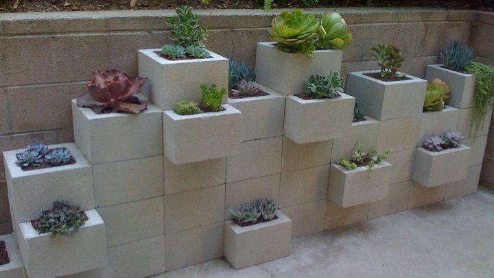 bloques de hormign para decorar el jardn - Bloques De Hormign