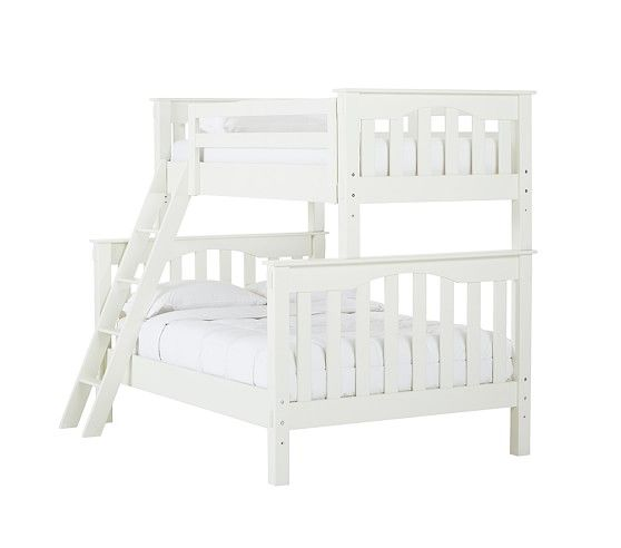 Kendall Twin Over Full Bunk Bed Simply White Full Bunk