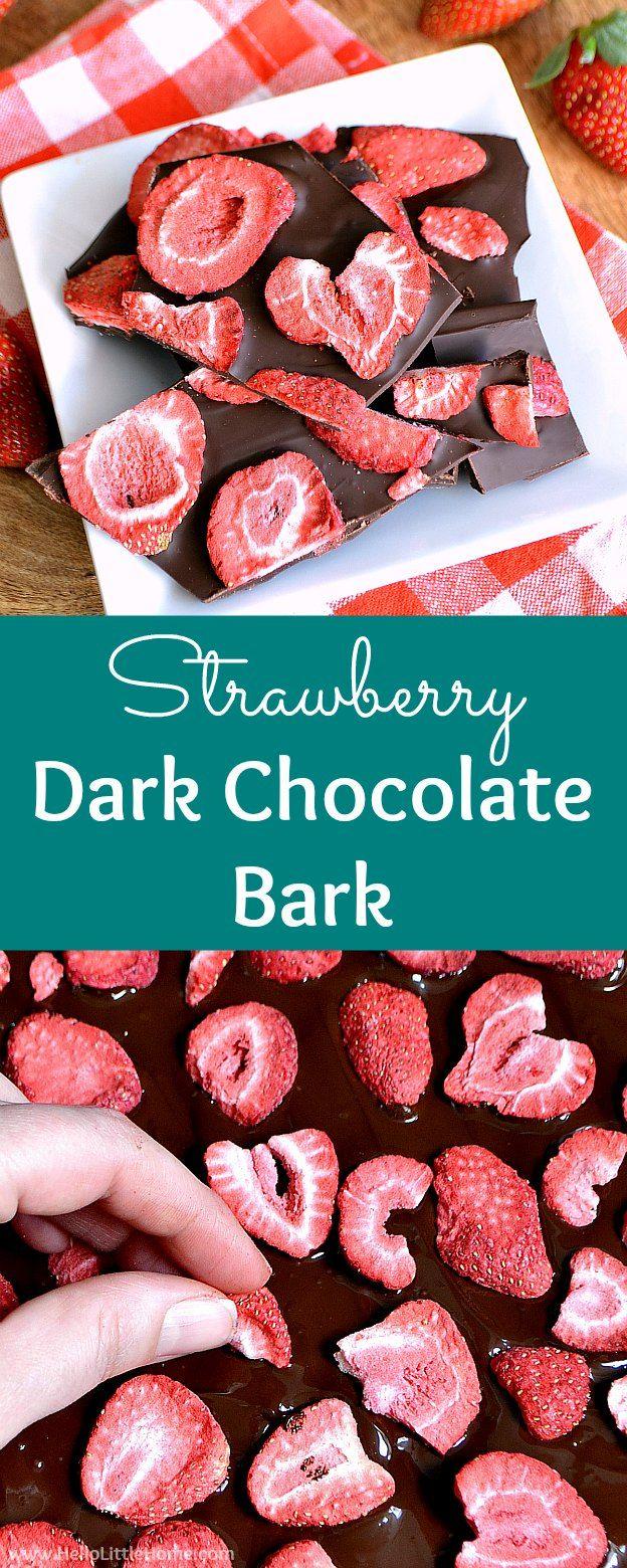 Strawberry Dark Chocolate Bark