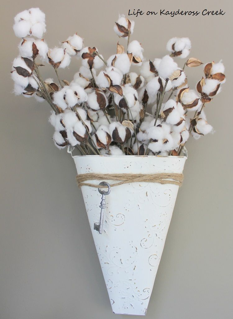 How I took a tin wall vase or planter found at a thrift store and ...