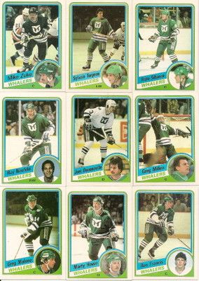 1984-85 TOPPS HARTFORD WHALERS TEAM SET +2 RC S  See List  + 2cba80aab